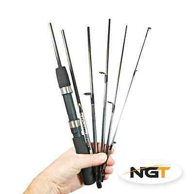 NGT Travelmaster 6ft 6pc Carbon Spinning  Travel Fishing Rod