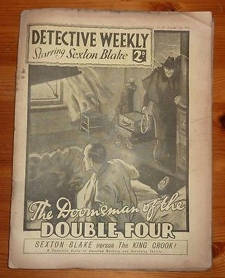 DETECTIVE WEEKLY No 41 2ND DEC 1933 THE DOOMSMAN OF THE DOUBLE FOUR