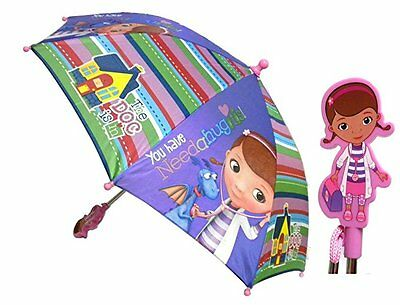 Disney Doc McStuffins Molded Handle Kids Umbrella with Wipe Clean - Kids Gift!!