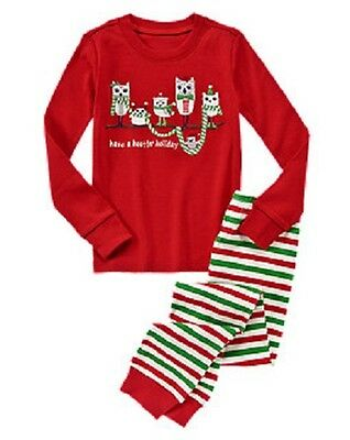 NEW GYMBOREE BOYS or GIRLS Have A Hootin' Holiday Owls Gymmies Pajamas Size 4