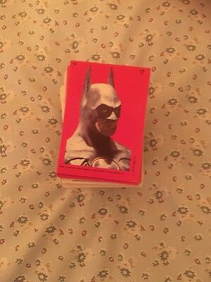 Around 180 Batman Movie Collector Cards And Stickers From 1989