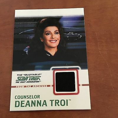 "Quotable Star Trek TNG - C4 BLACK VARIANT ""Counselor Deanna Troi"" Costume Card"