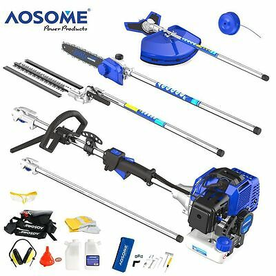 AOSOME 52CC 5 in 1 Petrol Multi Function Garden Tool Hedge Trimmer Strimmer