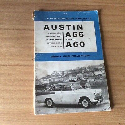 p.olyslager motor manual for a austin a55 mark ii