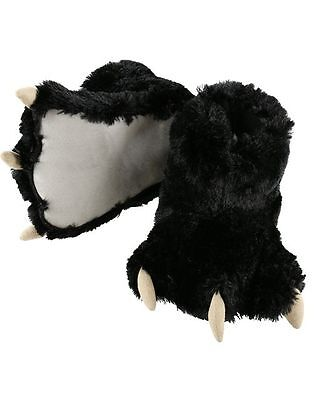 Lazy One Black Bear Paw Slippers~choose size