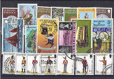 Guernsey nice mixed selection of used stamps