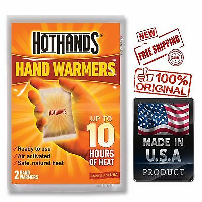 10 Pairs HotHands Hand Warmers Hot Hands 10 hours Heat Warmer 100% MADE IN USA
