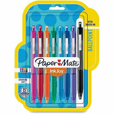 Paper Mate InkJoy 300 RT Retractable Ballpoint Pen 1mm Assorted 8/Pack 1945921