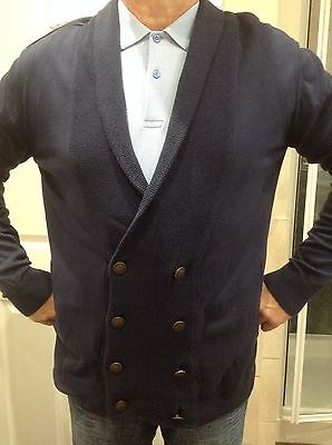 Mens River Island Navy Blue Shawl Collar Cardigan size Large