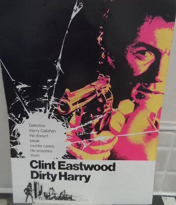 Clint Eastwood, 'Dirty Harry', A4 laminated picture, Excellent image, L@@K!