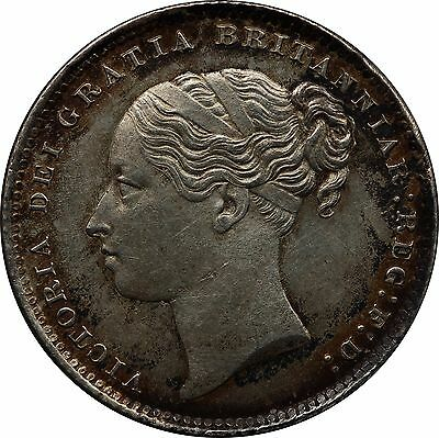 1886 Shilling English Silver Coin From Victoria (1837-1901)