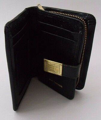 Vintage Small Black Leather Purse VGC