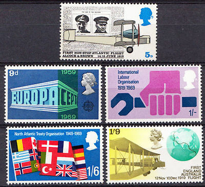 SG791-795 1969 ANNIVERSARIES Unmounted Mint GB