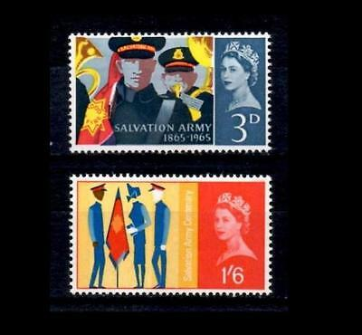 SG665p-666p 1965 SALVATION ARMY  PHOSPHOR ~ UNMOUNTED MINT GB