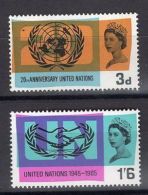 Sg681-682 1965 Uno ~ Unmounted Mint Gb