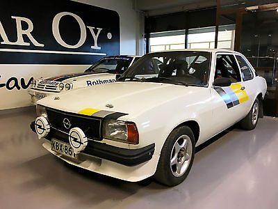 Opel Ascona historic rally car. Group 1 with FIA pass