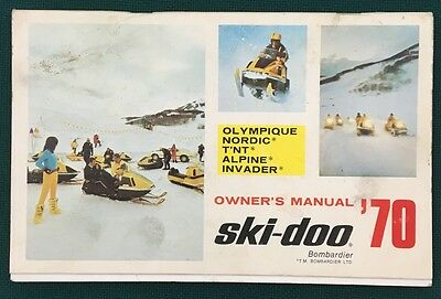 1970 SKI-DOO Owners Manual - Olympique, Nordic, T'NT, Alpine/Invader snowmobiles