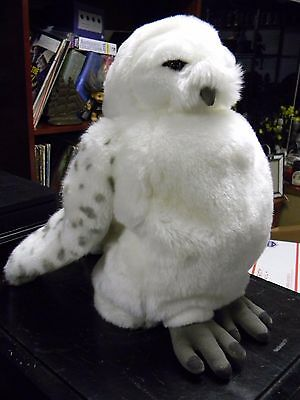 "13"" Hedwig White Owl Plush Hand Puppet Wizarding World of Harry Potter w/ sounds"