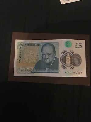 £5 Five Pounds AK47 47 Note 47 RARE! Bank Of England New Mint Condition Polymer