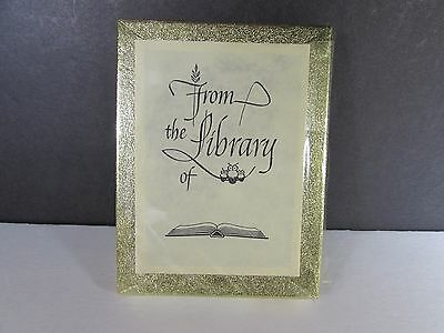 """Vintage 50 Antioch Bookplate Labels """"From the Library of"""" Sealed Box NEW"""