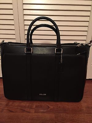 2016 Fall Coach Leather Black Metropolitan Briefcase F54775 NWT MSRP $700