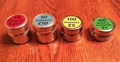 Bank / Post Office Coin Weights, Set of 4, Very Good Condition