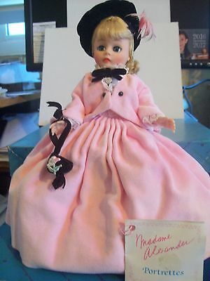 "MADAME ALEXANDER 10"" DOLL ""PAULETTE""  #1128  PORTRETTES DOLL & special Booklet"