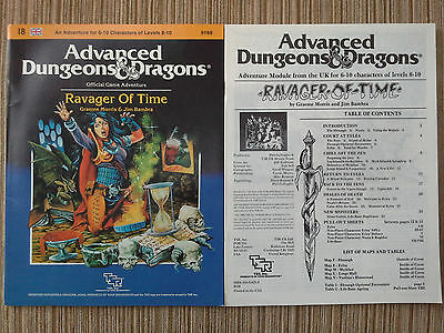 I8 - Ravager of Time - Advanced Dungeons & Dragons AD&D TSR