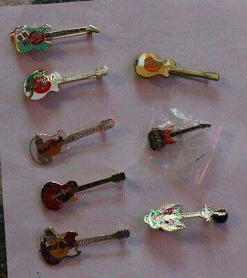 Hard Rock Cafe Casino Guitar Pins from Various Famous Cities Lot Of 8