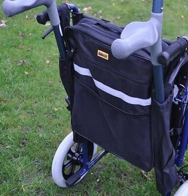 SELLER AWAY- Mobility Scooter Wheelchair Bag w/Crutch / Walking Stick Pockets