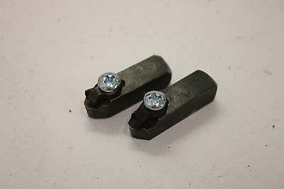 Pair of Round Right & Left Positive Rake Carbide Bit Holders for Brake Lath B