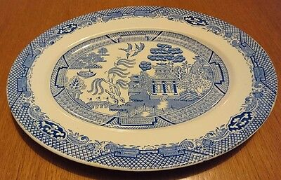 Barratts Blue and White Willow Oval Platter