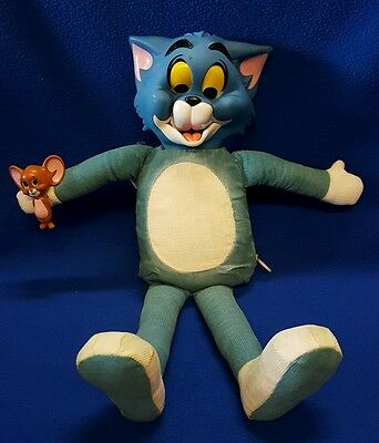 """Vintage Pull String 18"""" Tom and Jerry Doll - Mattel 1965 (talking not working)"""