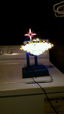 Welcome To Las Vegas Nevada Neon Light Flashing Blue Tested Works Awesome