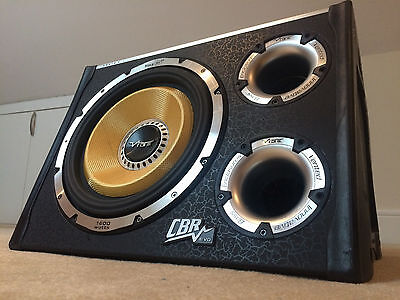 """Vibe CBR Subwoofer 12"""" Inch W/ Built In Amplifier 
