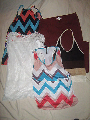MIXED LOT OF 5 DIFF ITEMS - Ladies Clothing = 60c each + 1 FREE White Knit Top