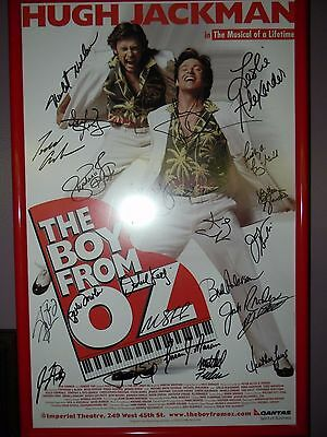 BOY FROM OZ Broadway Poster Signed by Cast Hugh Jackman Peter Allen Musical