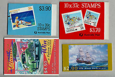 AUSTRALIAN STAMP BOOKLETS AS ISSUED  X 4 Below Face Value !!