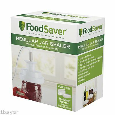 FoodSaver Kitchen Wet Dry Grocery Food Storage Container Mouth Jar Can Sealer