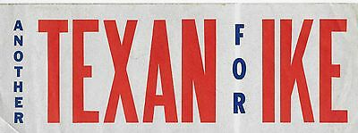 Another Texan For Ike Sticker