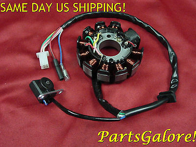 11 12 Coil 6 Wire Stator 125 125cc 150 150cc GY6 Honda Scooter ATV Trike Buggie