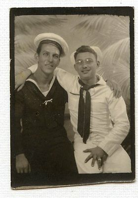 vintage photo affectionate sailor buddy boys young man gay snapshot