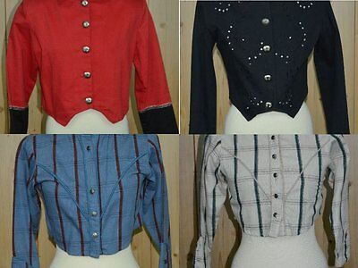 Lot of 4 Showtime Horse Riding equine Womens Western Shirts sz M (10) Western