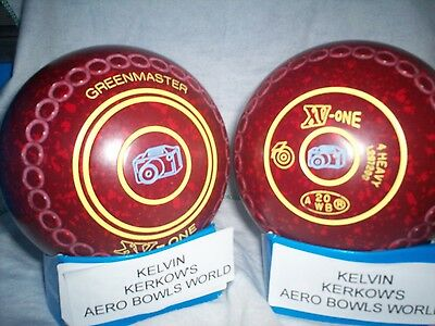 "Greenmaster Xv-One Lawn Bowls Size 4 Heavy Weight Gripped ""camera"""