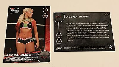 Alexa Bliss Defeats Becky Lynch Smackdown WWE Topps Now 2016 TLC #38 180cc