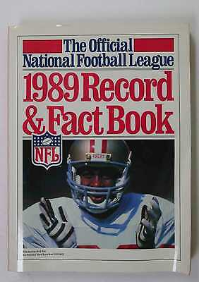 1989 Record And Fact Book Nfl Football 49Ers Jerry Rice Cover
