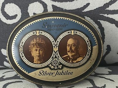 Antique 1935 Light Browns Advertising Tin King George V Silver Jubilee England