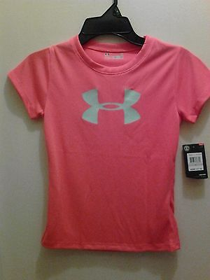Nwt $17 Under Armour Girl's Heat Gear Top Size 6