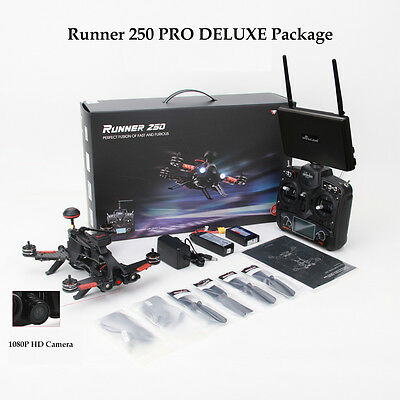 Walkera New GPS Racing Drone Runner 250 PRO DELUXE Package / 5.8Ghz Monitor/US