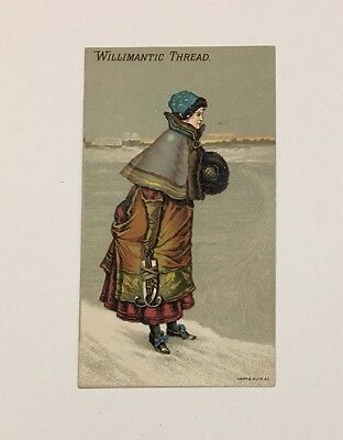 WILLIMANTIC THREAD - Woman Going Ice Skating